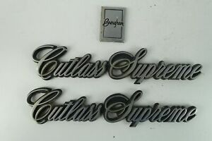 1982 1988 Oldsmobile Cutlass Supreme Set Of 3 Emblems Oem