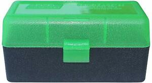 MTM PLASTIC AMMO BOXES (5) GREEN BLACK 50 Round 223  5.56  MORE-FREE SHIPPING
