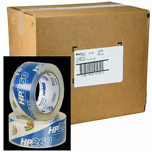 Case Of 36 Rolls Duck Hp260 Clear 3 1 Mil Packaging Tape 1 88 X 60 Yd