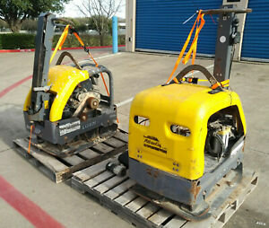 Atlas Copco Lg400 Hydraulic Walk Behind Plate Compactor Lot Of 2