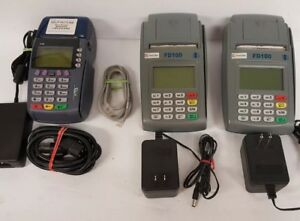 Lot Of 3x Terminals Verifone Omni 3740 2 fd100 Terminal