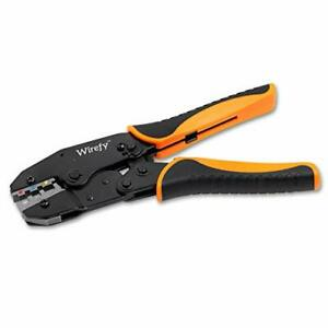 Crimping Tool For Heat Shrink Connectors Ratcheting Wire Crimper Crimping