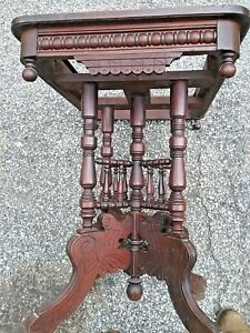 Marble Top Table Antique Walnut Pick Up Springfield 19064 Pa