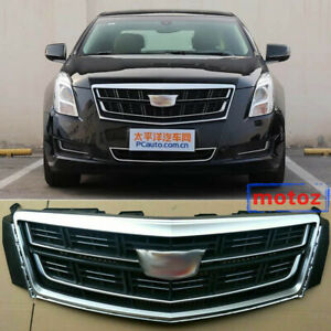 Radiator Front Bumper Upper Grille Vent Grid Badge For Cadillac Xts 2013 2017