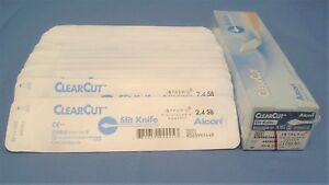 Alcon 8065992445 Clearcut Slit Knife 2 4mm Single Bevel 21 Units In Date