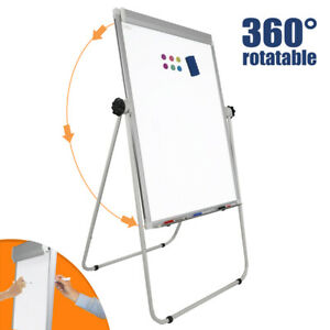 Adjustable Office Large Magnetic Whiteboard Dry Erase Board Easel Aluminum Frame