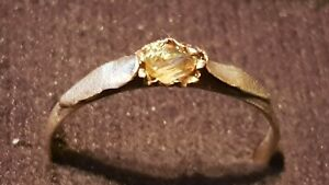 Exquisite Stunning Tudor Ring With Real Amber A Must Read Description L125s
