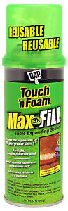 Convenience Prod 7565000043 Touch n Foam Max Fill Insulating Foam Triple