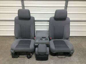 2009 2014 Ford F150 Front Seats Manual Gray Cloth Oem 09 10 11 12 13 14