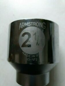 Armstrong 2 1 4 New Std Hand Socket 13 172 3 4 Drive 12 Pt With Free Skt