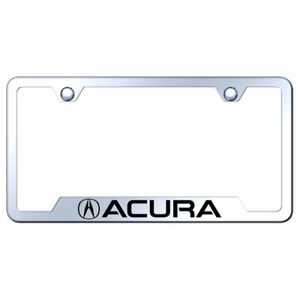 Cut out License Plate Frame With Acura On Stainless Steel officially Licensed
