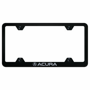 Wide Body License Plate Frame With Acura On Black officially Licensed