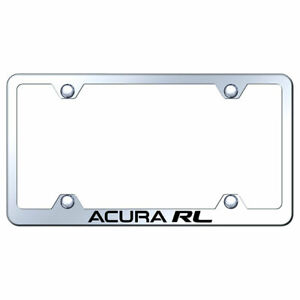 Wide Body License Plate Frame With Acura Rl On Stainless Steel licensed