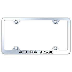 Wide Body License Plate Frame With Acura Tsx On Stainless Steel licensed