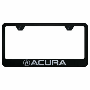 License Plate Frame With Acura Laser Etched On Black officially Licensed