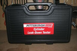 Pittsburgh Cylinder Leak Down Tester Domestic Import 4 Piece Automotive Case New