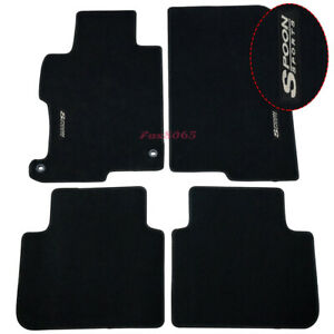 Fits 13 17 Honda Accord Black Nylon Floor Mats Carpets W Spoon Embroidery