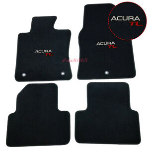 Fits 09 14 Acura Tl 4dr Nylon Floor Mats Carpets Front Rear Black