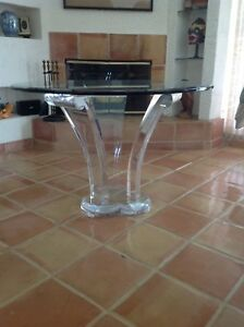 Lucite Dining Foyer Table Clove By Barry Richman Hollis Lion In Frost Rare