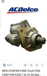 Starter Motor Ford Motorcraft Sa 903 2c3z 11002 Aa New No Core Needed