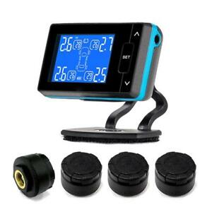 Car Tpms Wireless Tire Pressure Monitoring System 4 Wheel Tires External Sensor