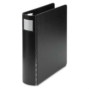 Heavyweight Casebound 4 Round Ring Binder 14 X 8 1 2 2 Capacity Black