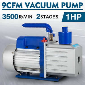 9cfm 2 Stages Vacuum Pump 1hp Air Conditioning 3x10 1pa Refrigeration R12 R134a