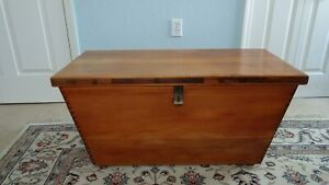 African Yellow Wood Chest Hand Made