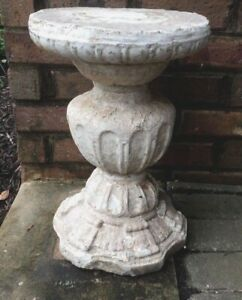 Antique Cement Stone Plant Stand Side Table Plinth Statue Pedestal