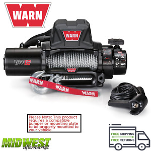 96820 Warn Vr12 12 000 Lb Self Recovery Electric Winch W 80ft Of Wire Rope