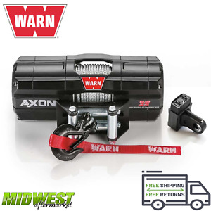101135 Warn Axon 35 Powersport Utv Atv Electric Winch W 50ft Of Steel Rope