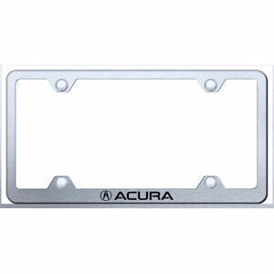 Wide Body License Plate Frame With Acura On Brushed officially Licensed