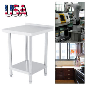 Commercial Stainless Steel Work Table Food Prep Kitchen Restaurant 24 X 24