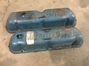 Vintage Powered By Ford Valve Covers 289 302 1965 1966 1967 1968 1969 1970
