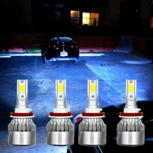 4x Ice Blue Hi lo Beam Led Headlight Bulbs For Gmc Sierra 1500 2500 2007 2013