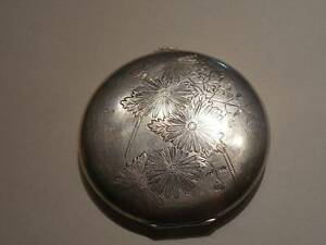 Vintage Sterling Silver Japanese Powder Compact