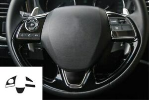 Stainless Interior Steering Wheel Cove Trim For Mitsubishi Outlander 2016 2019