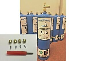 R12 Refrigerant 12 Virgin Pure R 12 28 Oz Includes On off Valve Kit A6