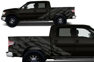 Custom Vinyl Decal Halfside Shred Wrap Kit For Ford Truck Parts F 150 09 14 Gray