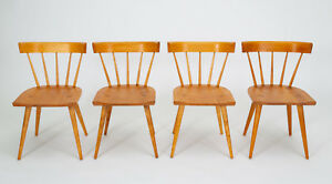 Four Paul Mccobb Planner Group Dining Chairs Mid Century Modern Winchendon Vtg