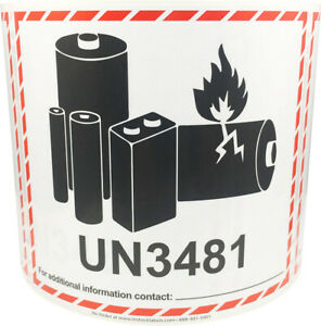 Un3481 Lithium Ion Battery Shipping Labels 4 5 X 5 Inches 500 Labels Total