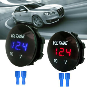 Waterproof Car Boat Motorcycle Led Panel Digital Voltage Meter Display Voltmeter