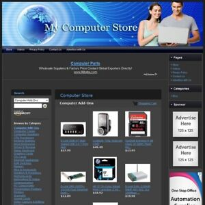 Computer Store Complete Ready Made Affiliate Online Business Website For Sale