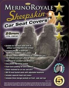 Sheepskin Seat Covers To Suit Ford Falcon All Models 2000 on 25mm 5 Colours