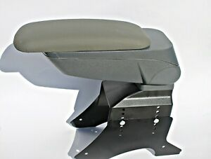 Armrest Centreconsole Universal Grey Eco Leatehr Arm Rest Fit Ford Fiesta