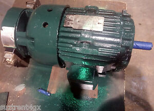 Ge Motors 3 phase 1755rpm 7 5hp Motor With Lakeshore 8500 Tach Re3211 mo015