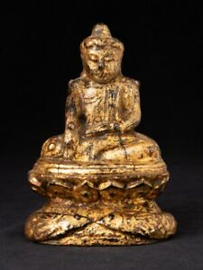 Early 19th Century Antique Wooden Buddha Statue From Burma