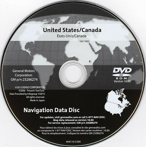 2005 2011 Cadillac Sts New Navigation Dvd Map Update P N 23286274 V 10 0 Gps