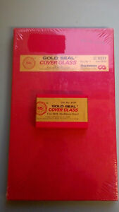 Microscope Slide Cover Glass Size 35x50mm Gold Seal