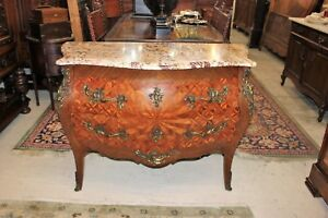 Inlaid Rosewood Bombay Style French Antique Chest Of Drawers Sideboard